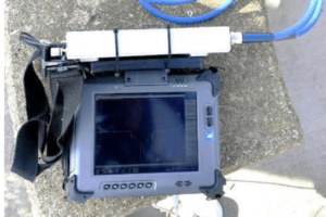 using a compact vna with a portable battery