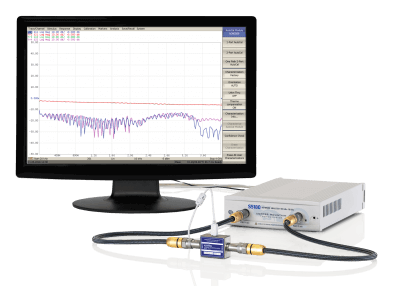 S5180 Compact Vector Network Analyzer (VNA) in-use with ACM2509 Automatic Calibration Kit
