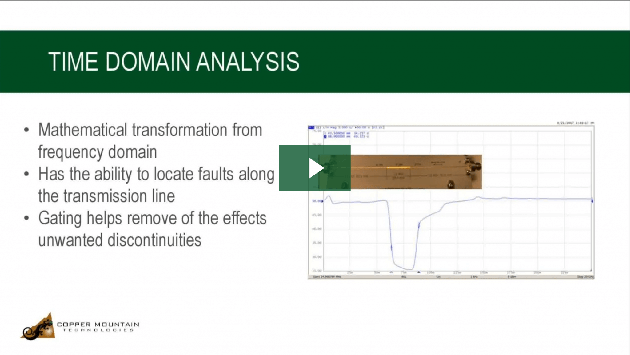time domain analysis with a vna video