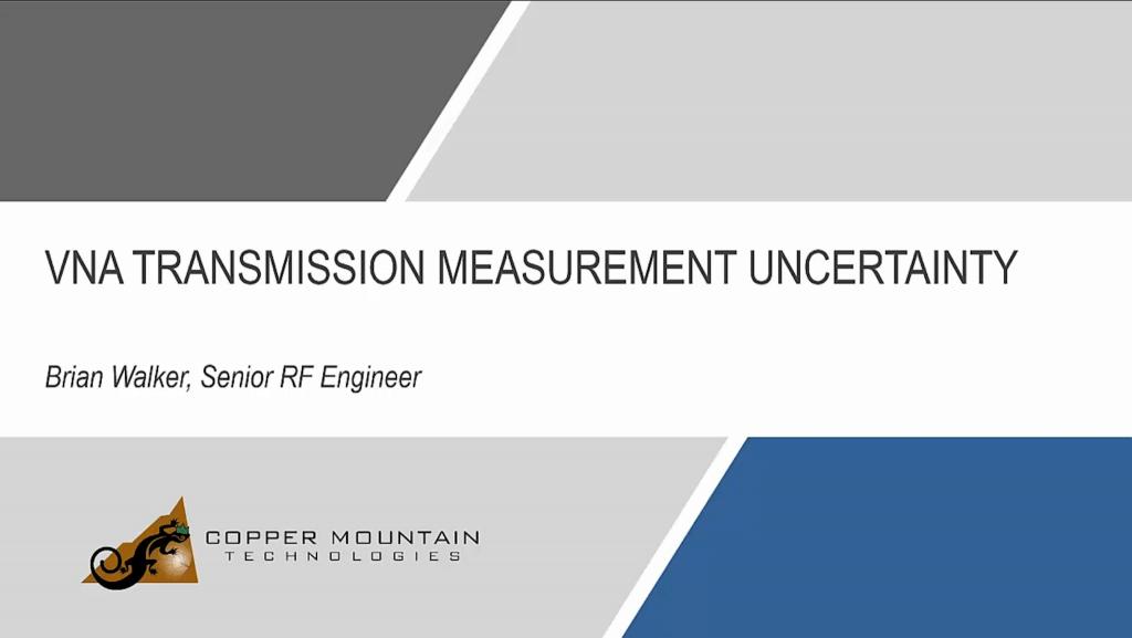 VNA Transmission Measurement Uncertainty