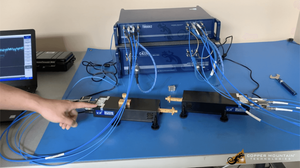 third party frequency extender with copper mountain technologies vnas vector network analyzer