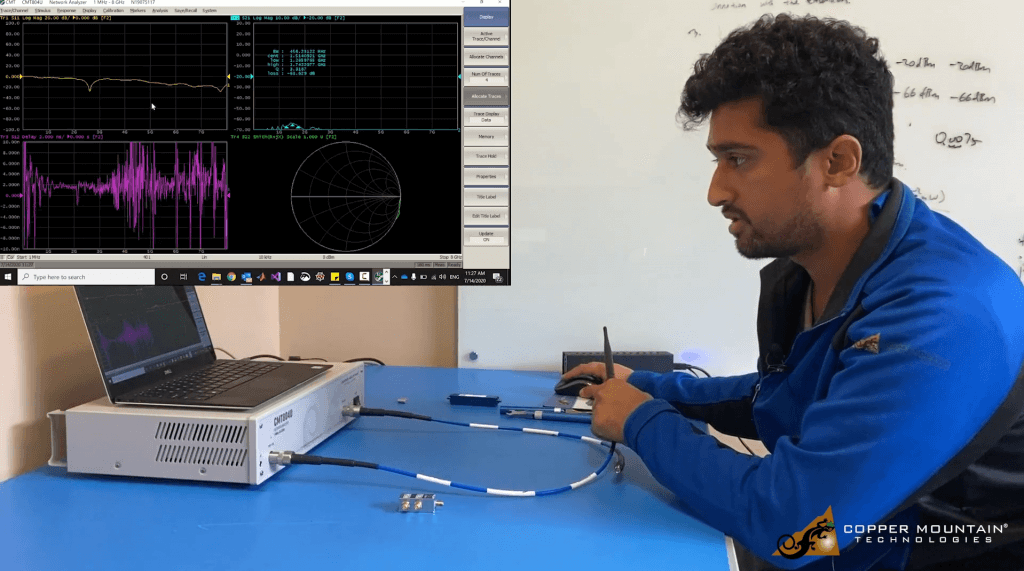 Measure antenna with unversity kit vna