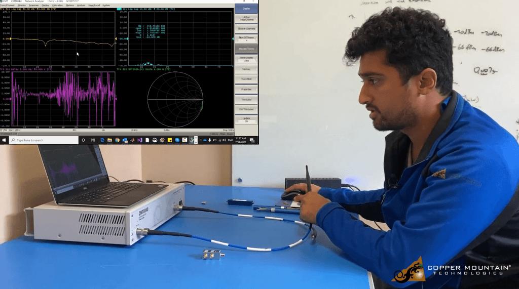 Measure antenna with university kit vna