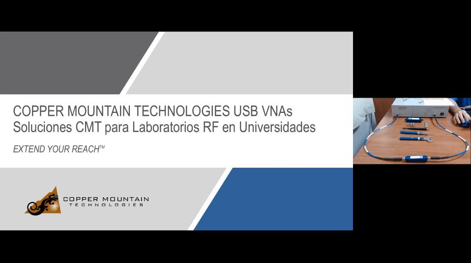 Copper Mountain technologies USB VNAs Soluciones CMT para Laboratorios RF en Universidades