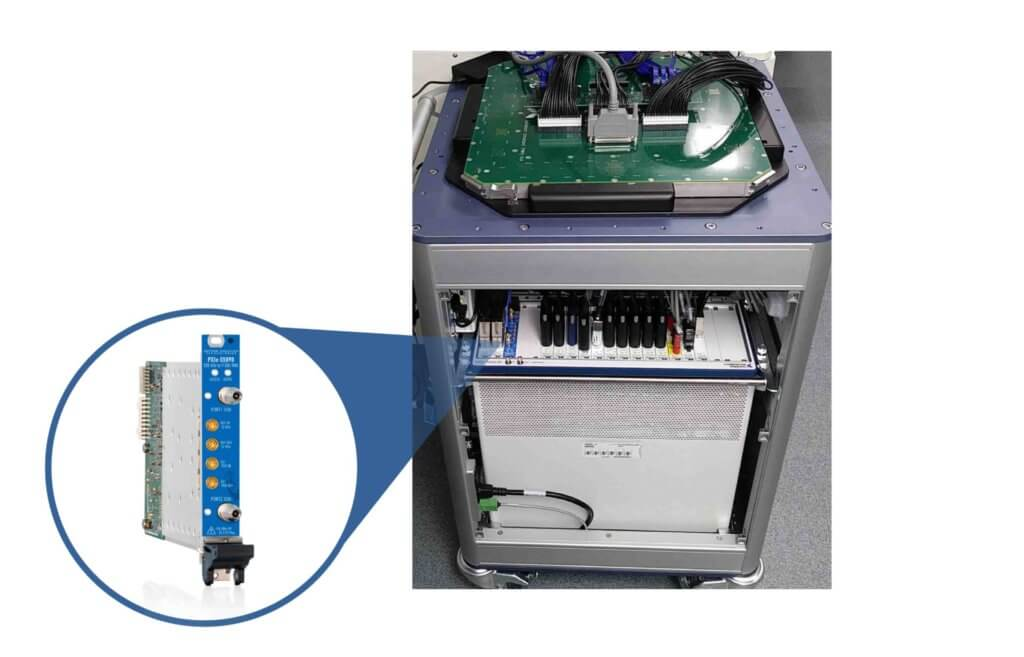 NI STS ATE tester with PXIe-S5090 Inset