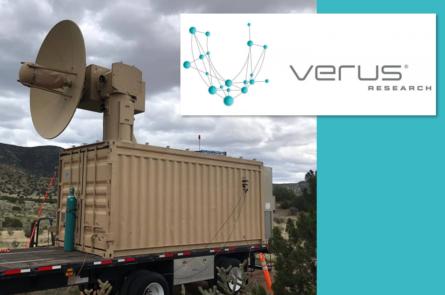 Verus Research logo w/ truck