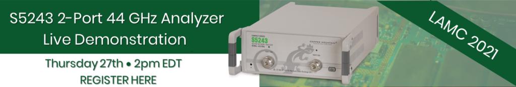 S5243 2-Port 44 GHz Vector Network Analyzer