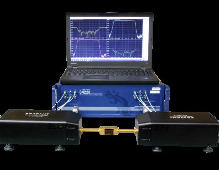 C4220 2 port 20 GHz VNA with Eravant Frequency Extender Modules