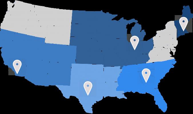 CMT US Sales Territories